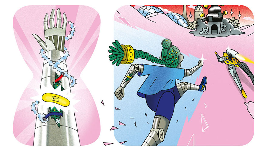 Nike's New Bandages for Kids Double as Comic Strips About Athletes Who Fall but Get Up