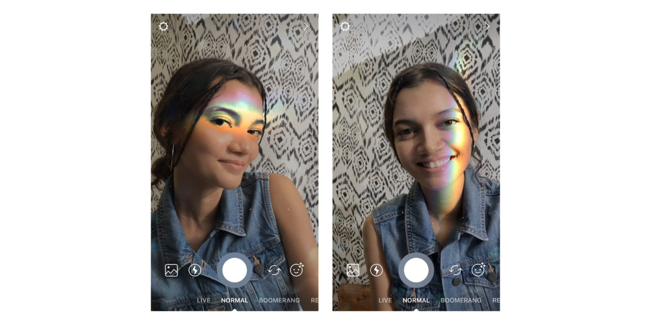 Peace love rainbow light and instagram face filters adweek users can add new filters to photos and videos in instagram stories before sharing them ccuart Gallery