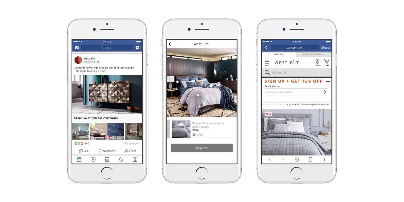 A New Facebook Collection Ads Feature Will Help Print Catalogs - Facebook ad template