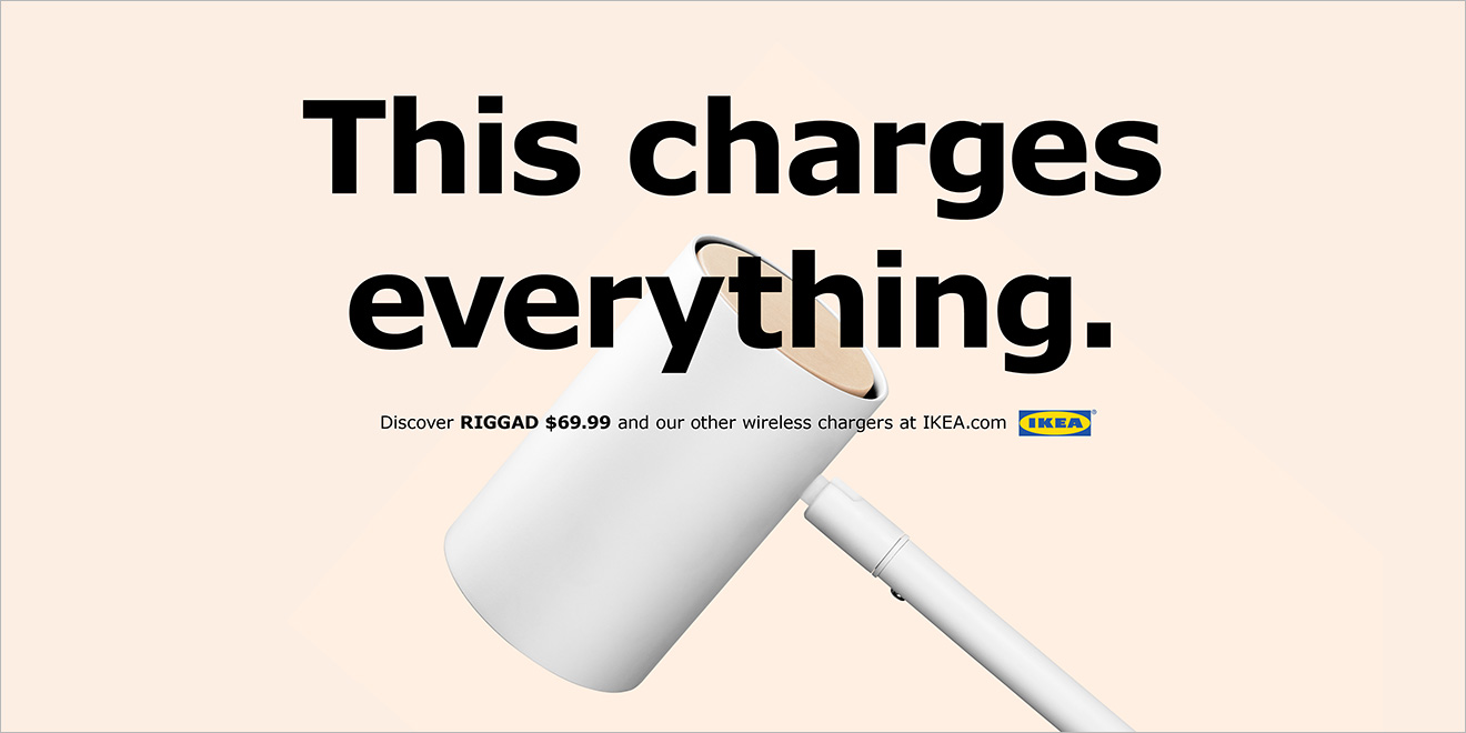 Ikea Piggybacks On Apple With Playful Ads For Its Wireless Charging