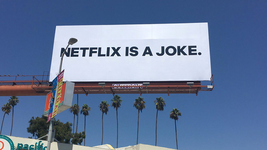 Netflix Is A Joke Billboards In New York And La Are Of Course