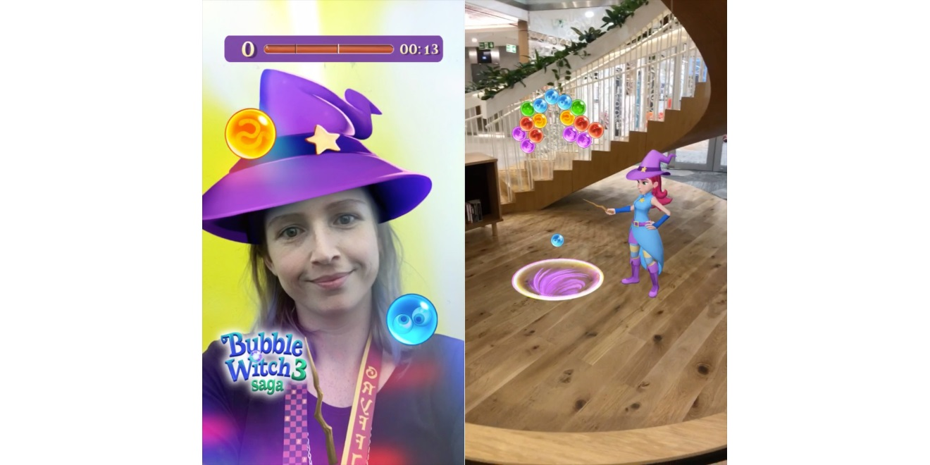 Bubble Witch 3 Saga Players Can Unlock Snapchat Lenses