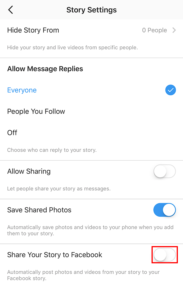 Instagram heres how to automatically share your instagram story to to have the instagram app automatically share your instagram story posts both photos and videos to your facebook story the toggle will turn blue ccuart Gallery