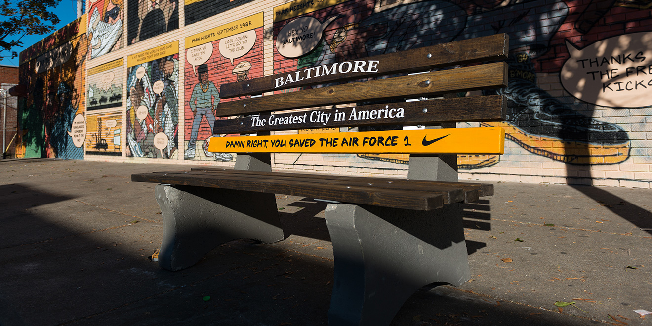 outlet store 33054 9e683 How Nike Is Honoring Baltimore for Saving the Air Force 1 Sneaker ...