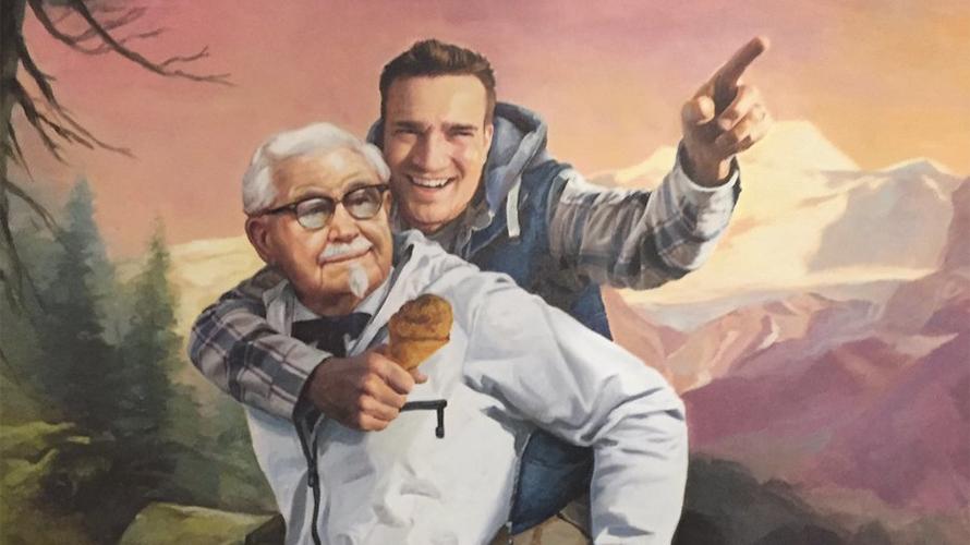 KFC, Colonel Sanders, Herbs, Painting