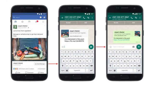 Facebook Pages Can Now Add Click-to-WhatsApp Buttons to