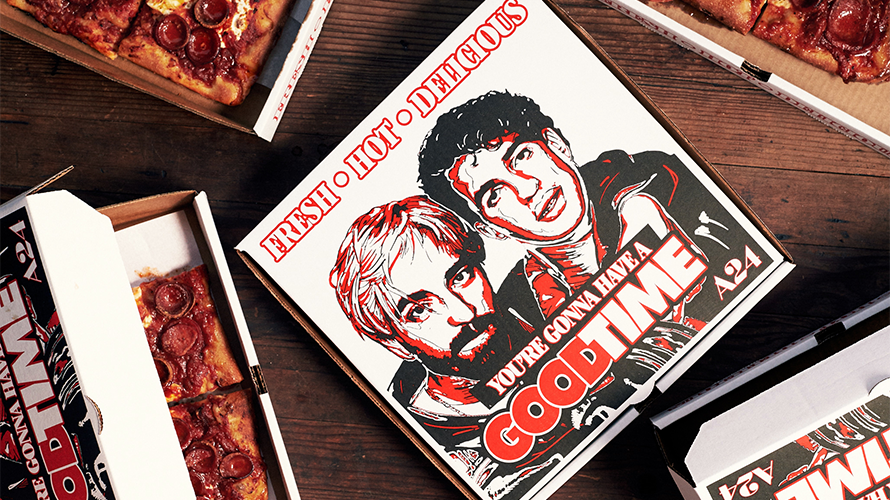 To Promote the Movie Good Time, A24 Created Pizza Boxes With