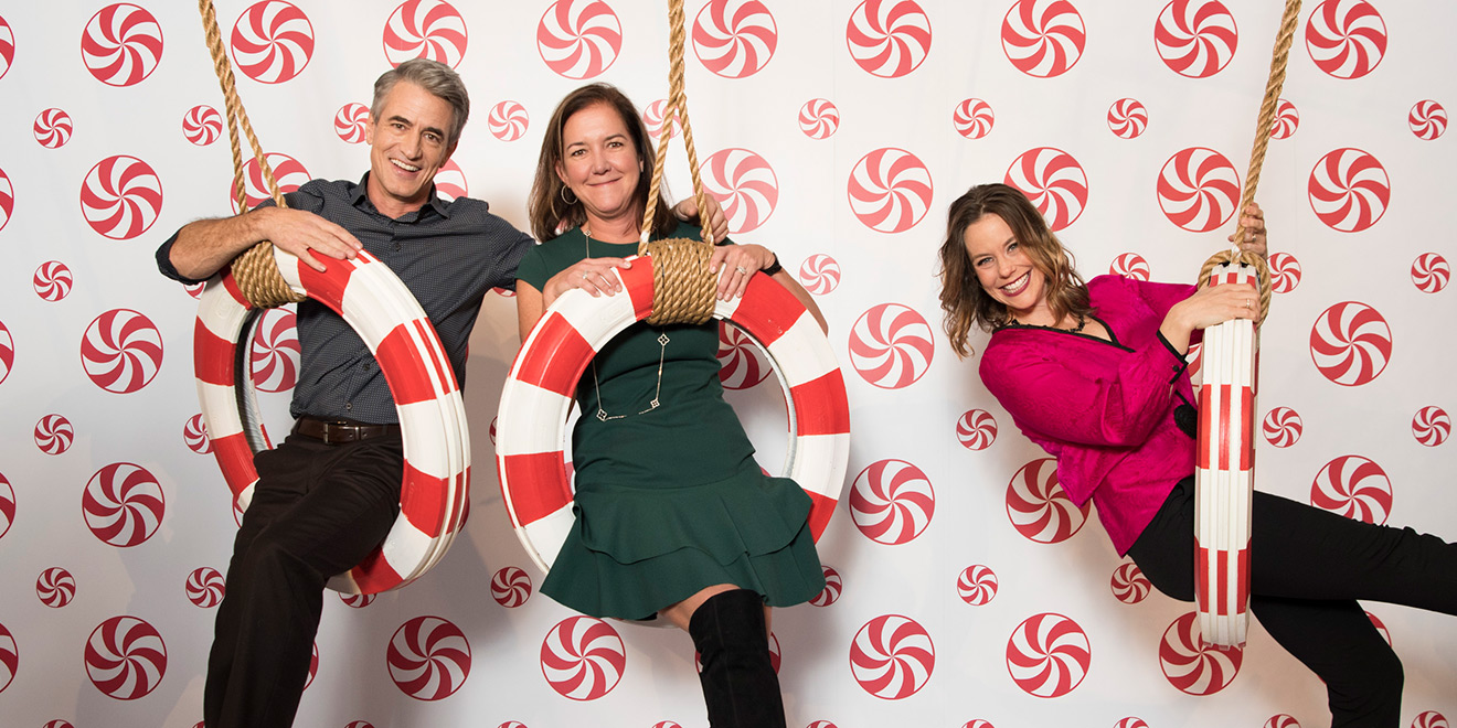 hallmark marketing chief susanne mcavoy center with network talent dermot mulroney and ashley williams created a pop up museum of christmas last month - All I Want For Christmas Hallmark Movie