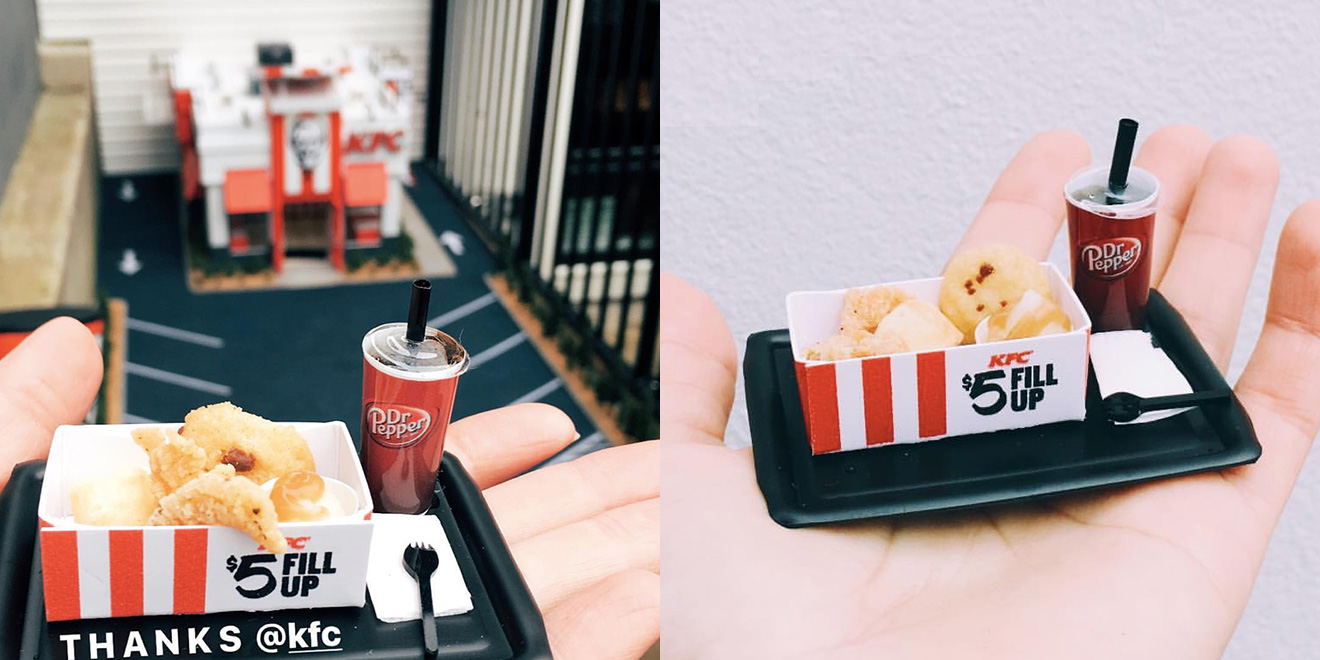 a miniature kfc opened in portland  serving tiny  5 fill