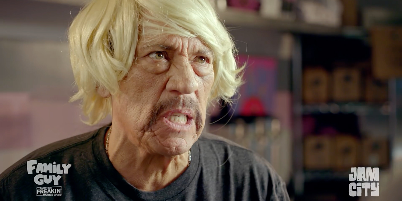 danny trejo gets dolled up for family guy s mobile game on the eve
