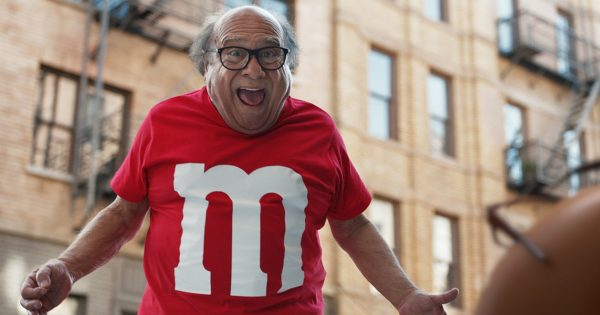 Inside M&M's Absurd Gambit to Turn Danny DeVito Into a Super Bowl-Sized Spokescandy