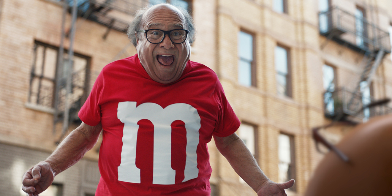 inside m m s absurd gambit to turn danny devito into a super bowl