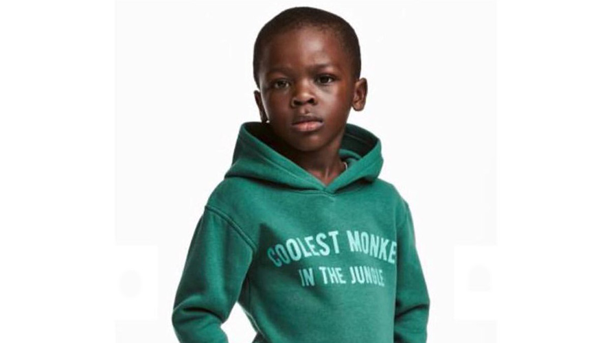 h m is under fire for modeling its coolest monkey hoodie on a
