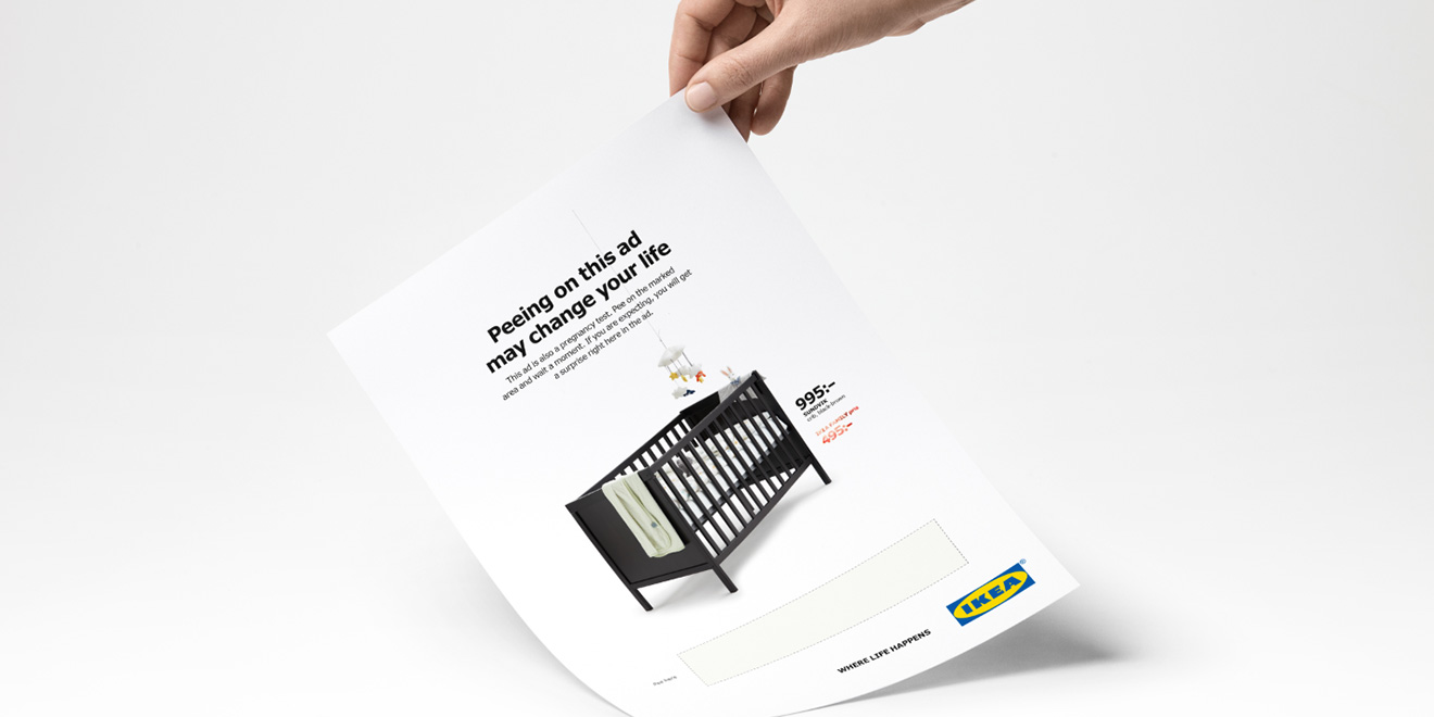 Ikea Wants You to Pee on This Ad. If You\'re Pregnant, It Will Give ...