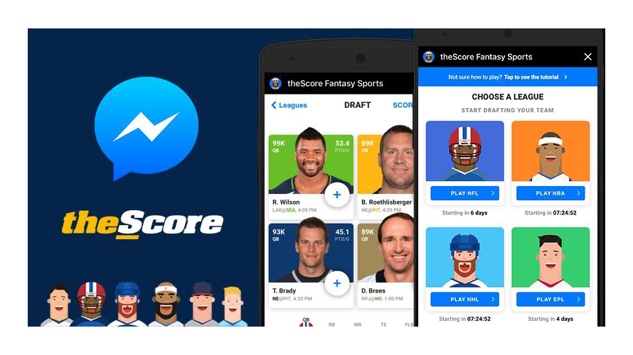 thescore fantasy sports launched on facebook instant games adweek