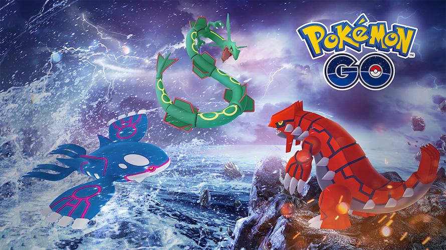 kyogre groudon returned to pokemon go for its legendary week event