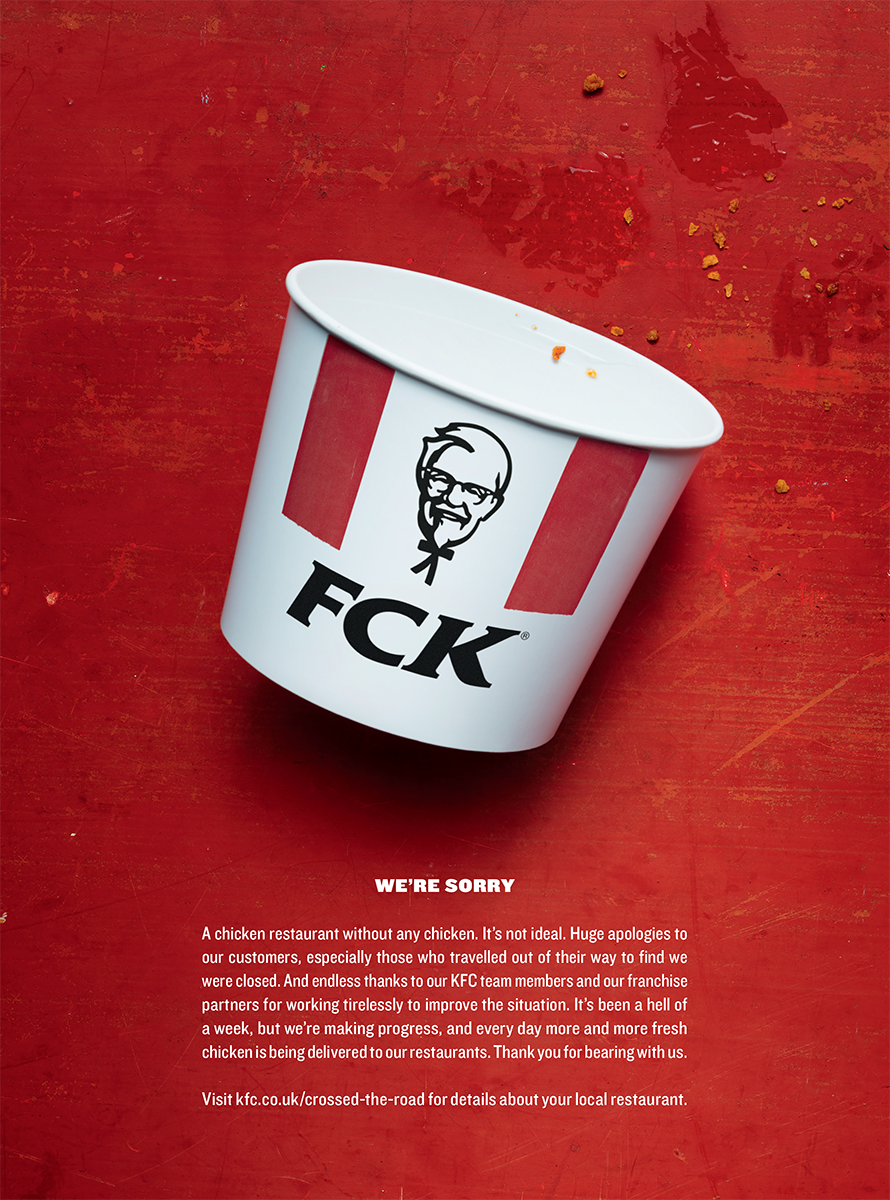 'You Want Me to Write FCK on a Bucket?' How KFC's PR Crisis Became a Print Ad for the Ages
