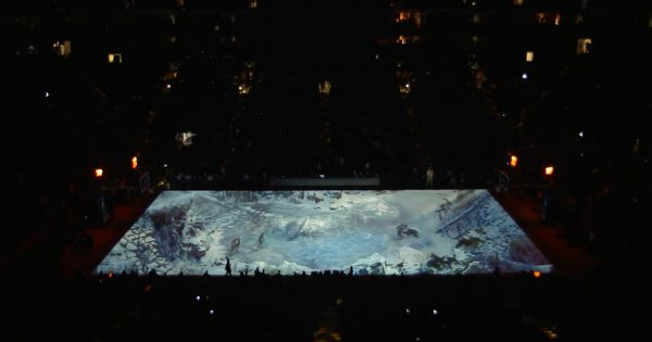 PlayStation Turned the Golden State Warriors Court Into a Huge God of War Ad on Sunday