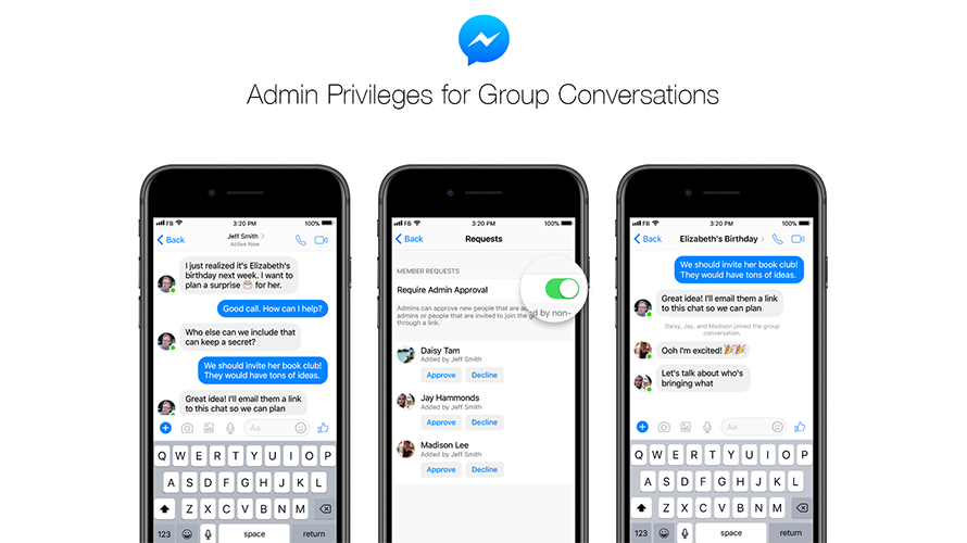 Messenger Launched Admin Privileges for Group Chats – Adweek