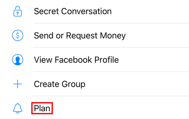 """The """"Plan"""" setting is highlighted."""