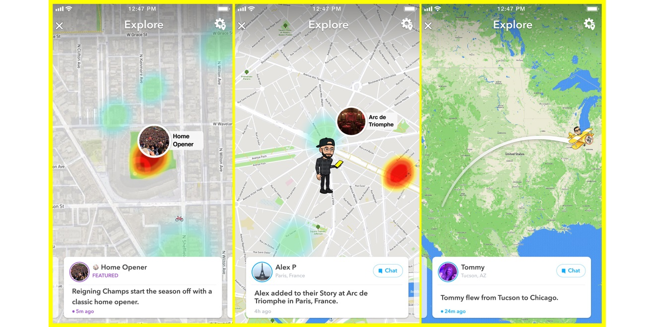 Snapchat Beefed Up Its Snap Map Feature With Map Explore ...