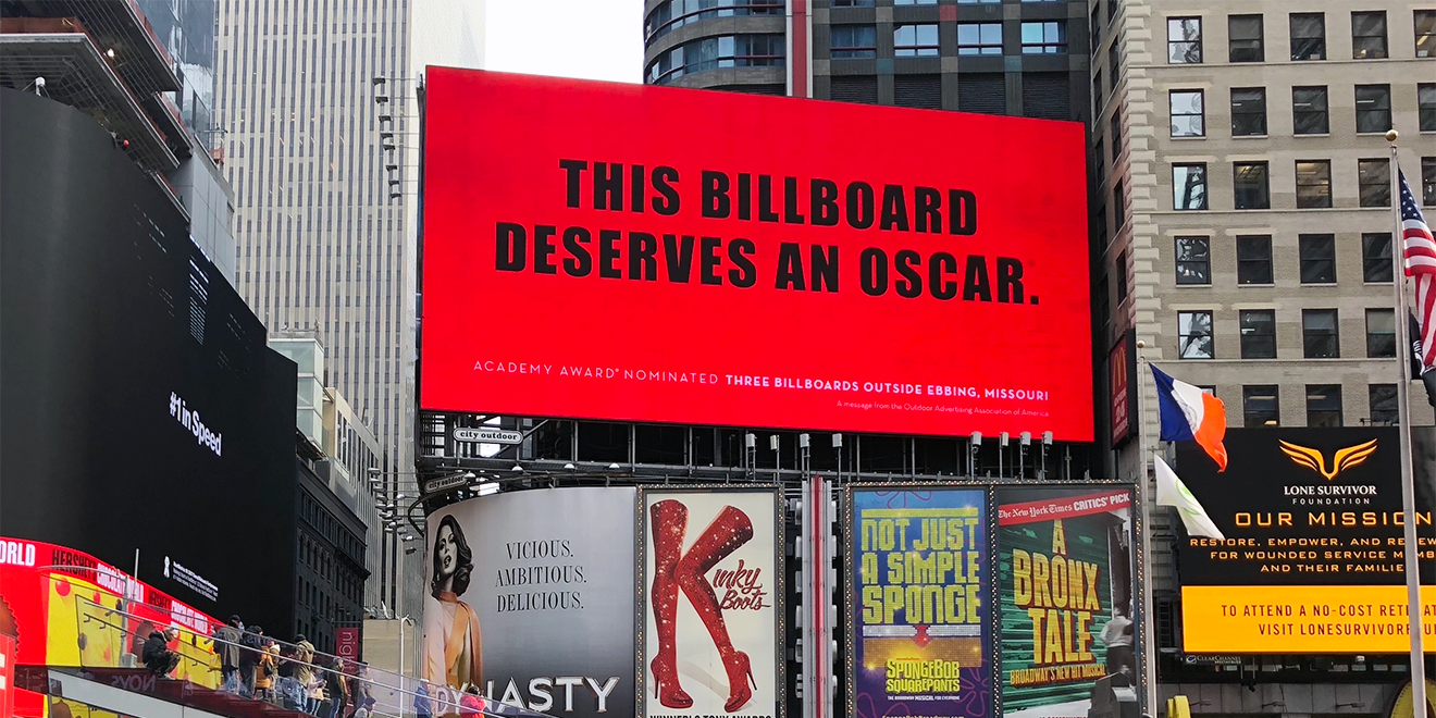The Billboard Industry Thanked '3 Billboards' Using '3