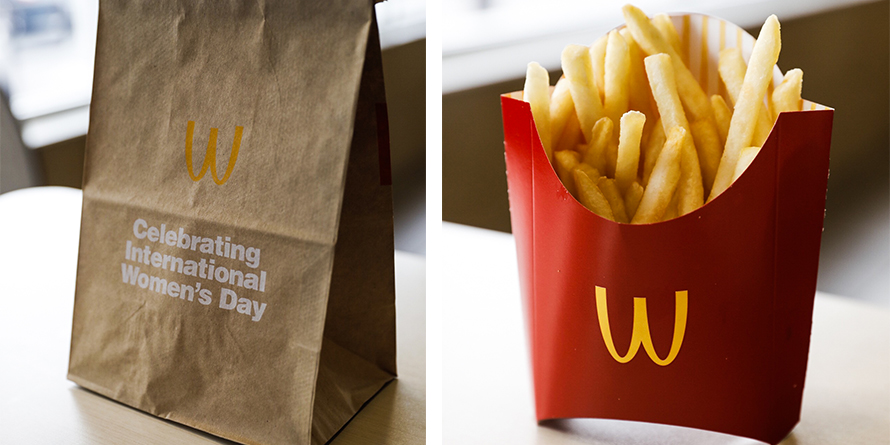 09104f06d McDonald s Flipped Its Famed Golden Arches for International Women s ...