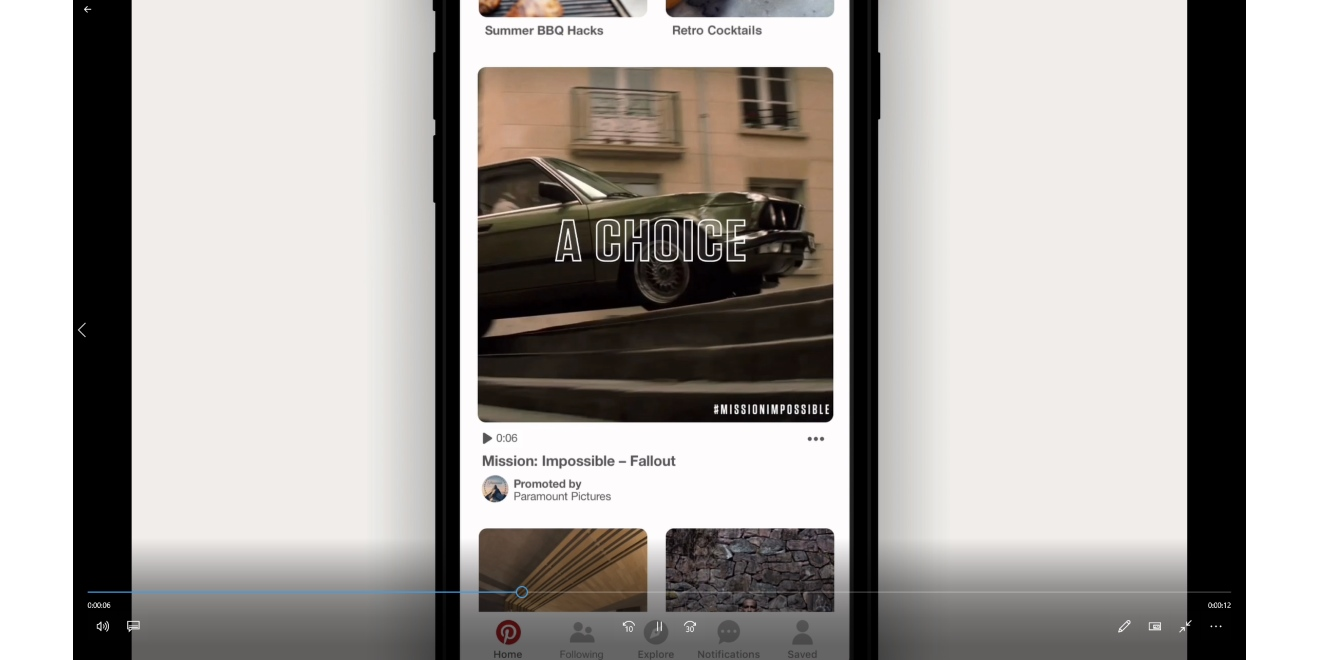 Pinterest Is Testing Promoted Video at Max Width