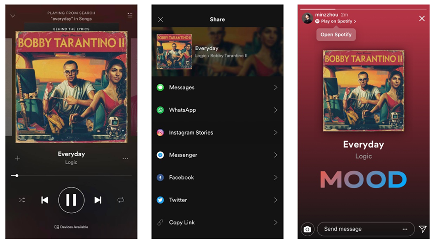 Instagram: Here's How to Share a Song or Album from Spotify to