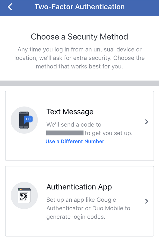 how to delete phone numbers on facebook two factor authentication