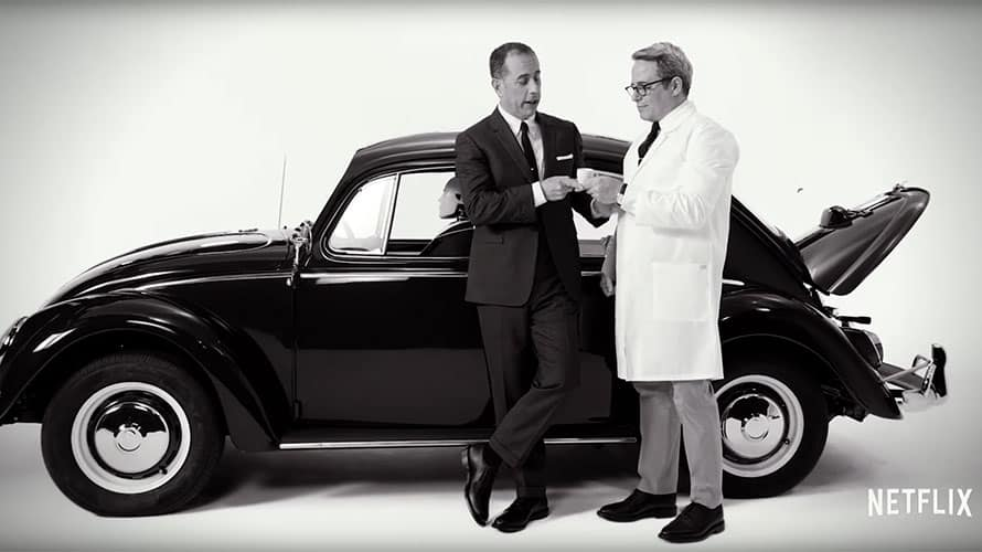4c425bd6c8f Jerry Seinfeld enlisted friend Matthew Broderick for his Comedians in Cars  Getting Coffee trailer.
