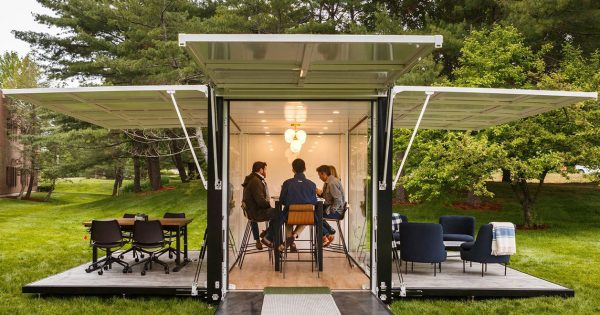 L Bean Created A Fully Functional Outdoor Office And Is
