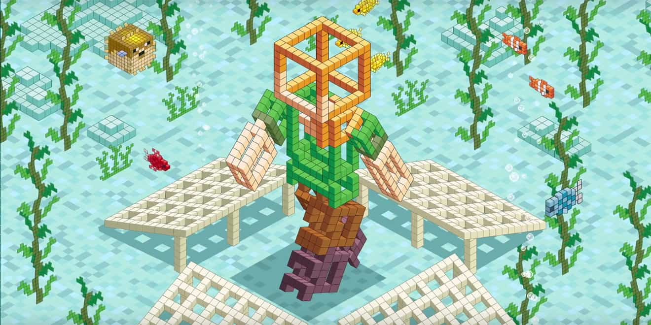 minecraft let gamers design sculptures that will now become coral