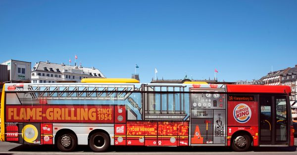 A Bus Becomes a Burger King Fire Truck in This Perfectly Branded Outdoor Idea From Denmark