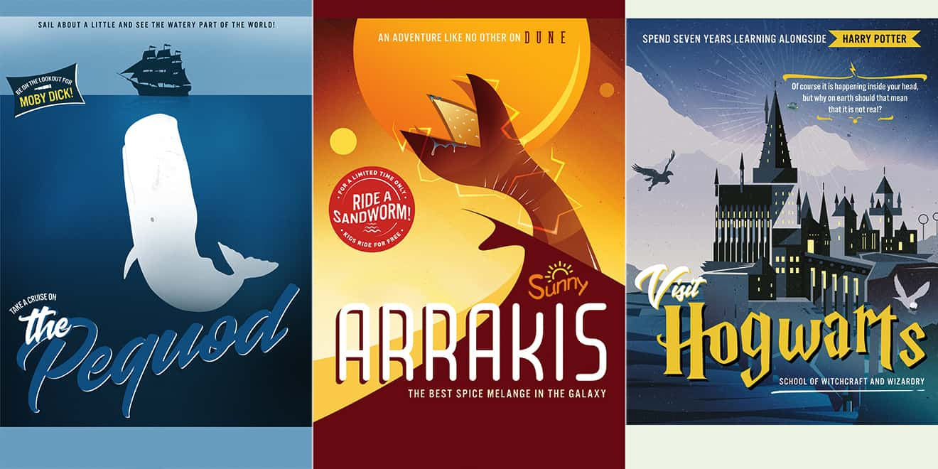 Literary Favorites Look Great As Travel Posters In This PBS Campaign