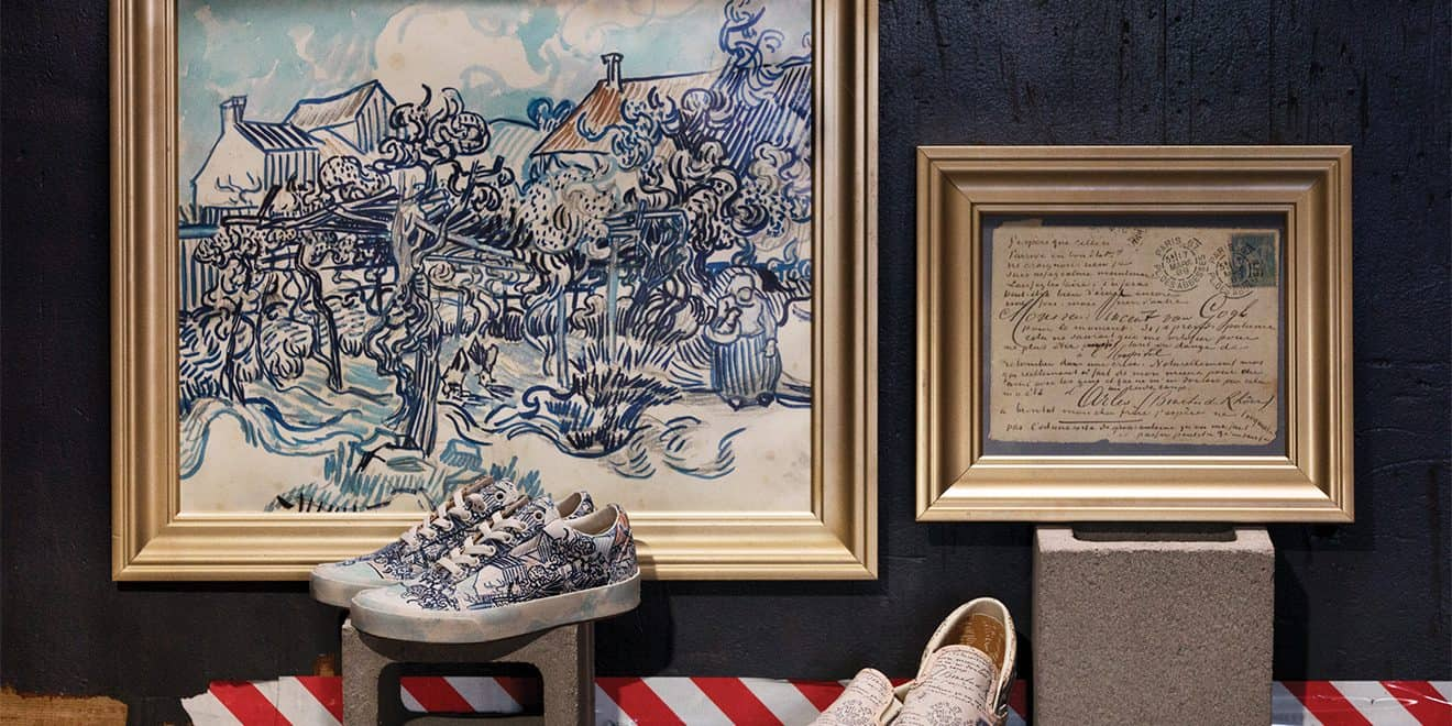 d023b414b7 Designs in the new collection include the artist s  Old Vineyard With  Peasant Woman.  Vans