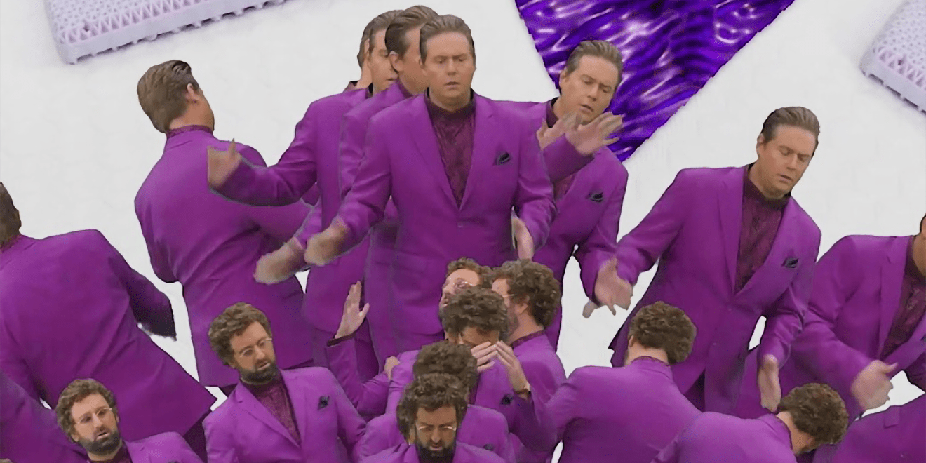 tim and eric get trippy to help you find a better mattress adweek