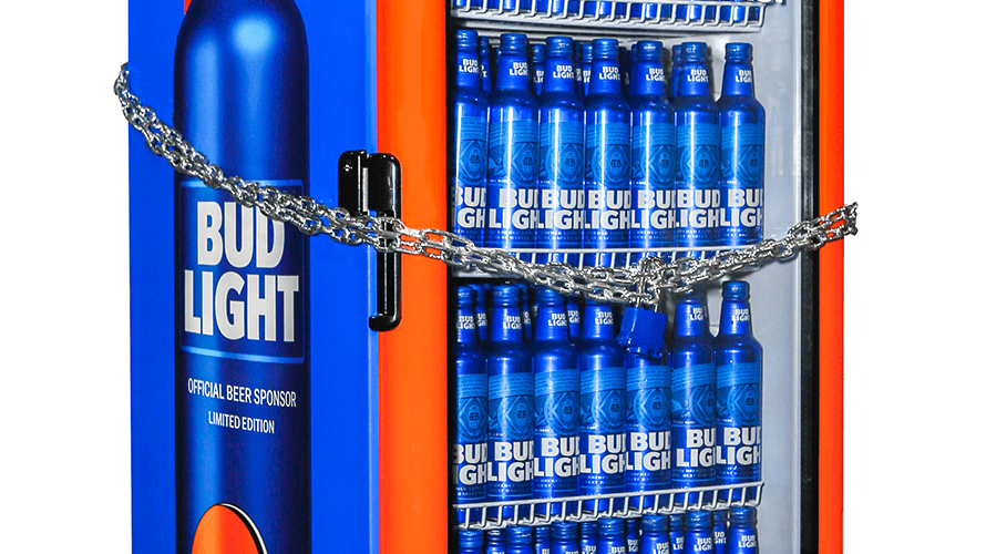 These Bud Light Fridges Will Unlock Once The Cleveland Browns Finally Win A  Game U2013 Adweek