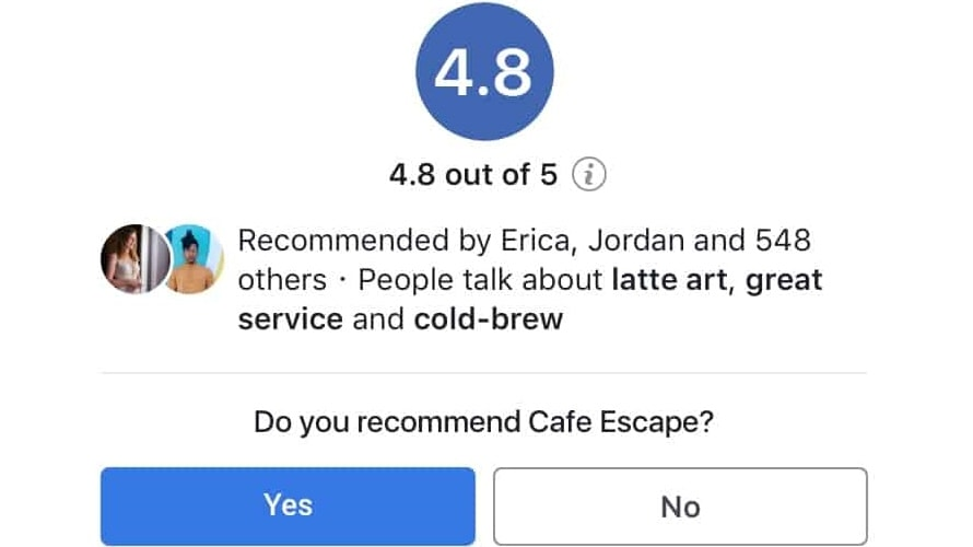 recommend    recommend  businesses  benefit  facebook review  adweek