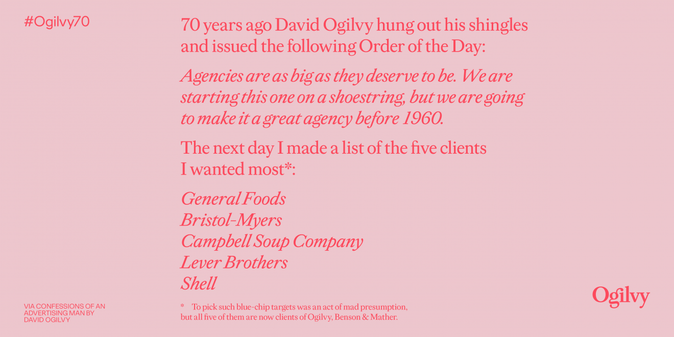 Ogilvy Looks To The Future As It Celebrates Its 70th Anniversary