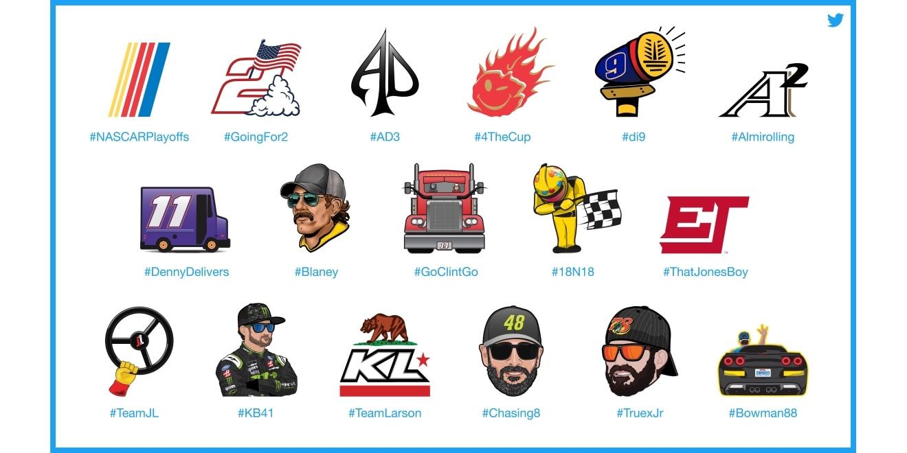 04ba8a296 Twitter Let Customized Hashtags and Emojis for Nascar Playoffs ...