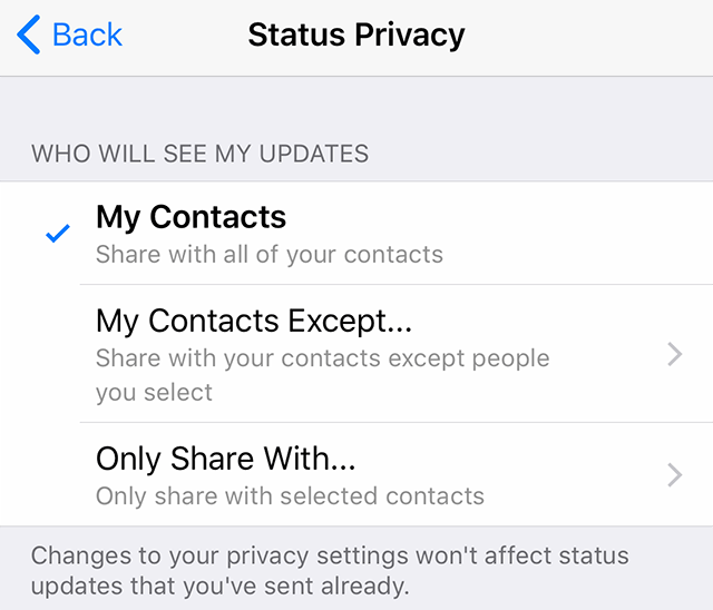 WhatsApp: Here's How to Hide Your Status Posts From Certain