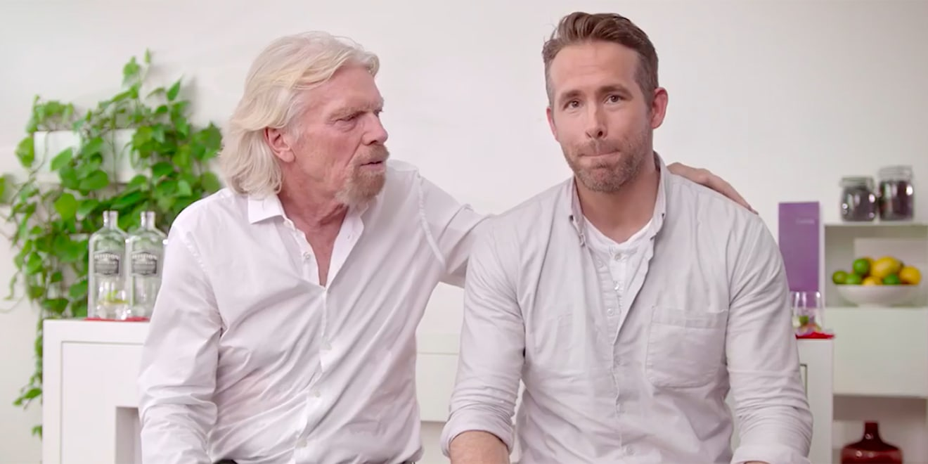 ryan reynolds launches gin partnership with richard branson who