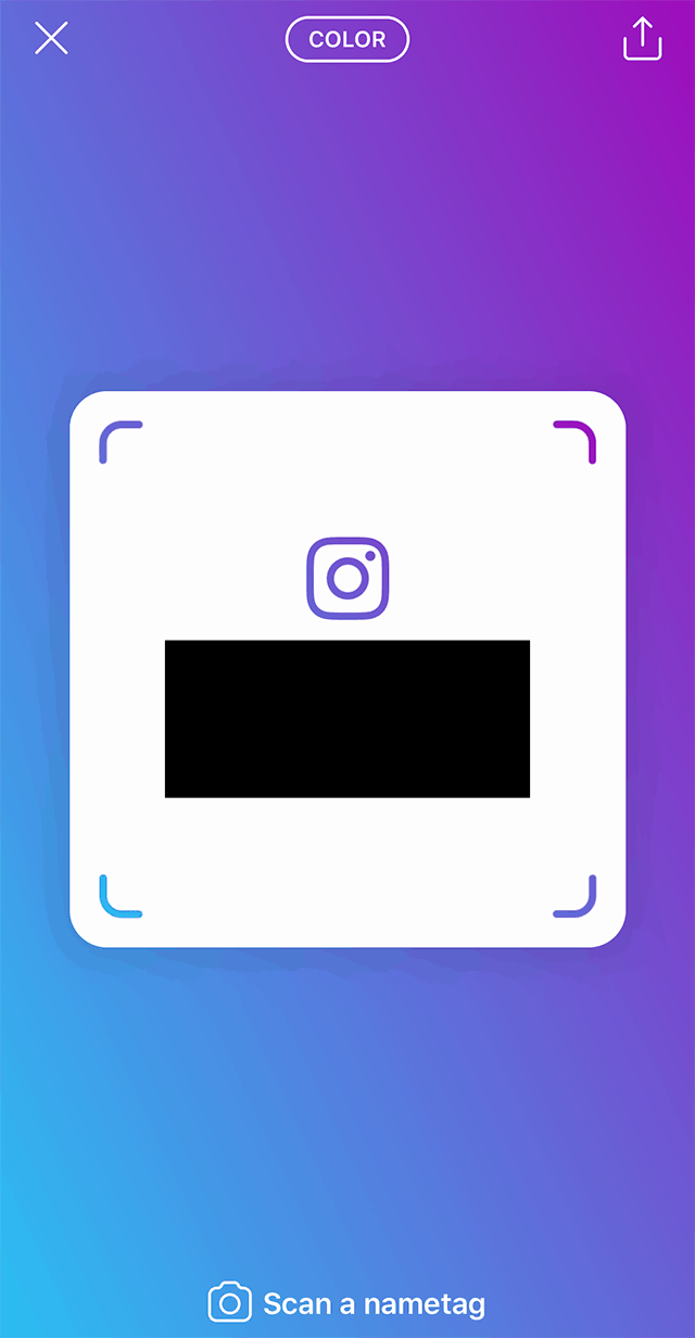 Instagram Heres How To Customize Your Nametag Adweek Electronic Circuit Symbol Group Picture Image By Tag Tap Anywhere On The Screen Change Color Of Background You Can Multiple Times Cycle Through All Available Options