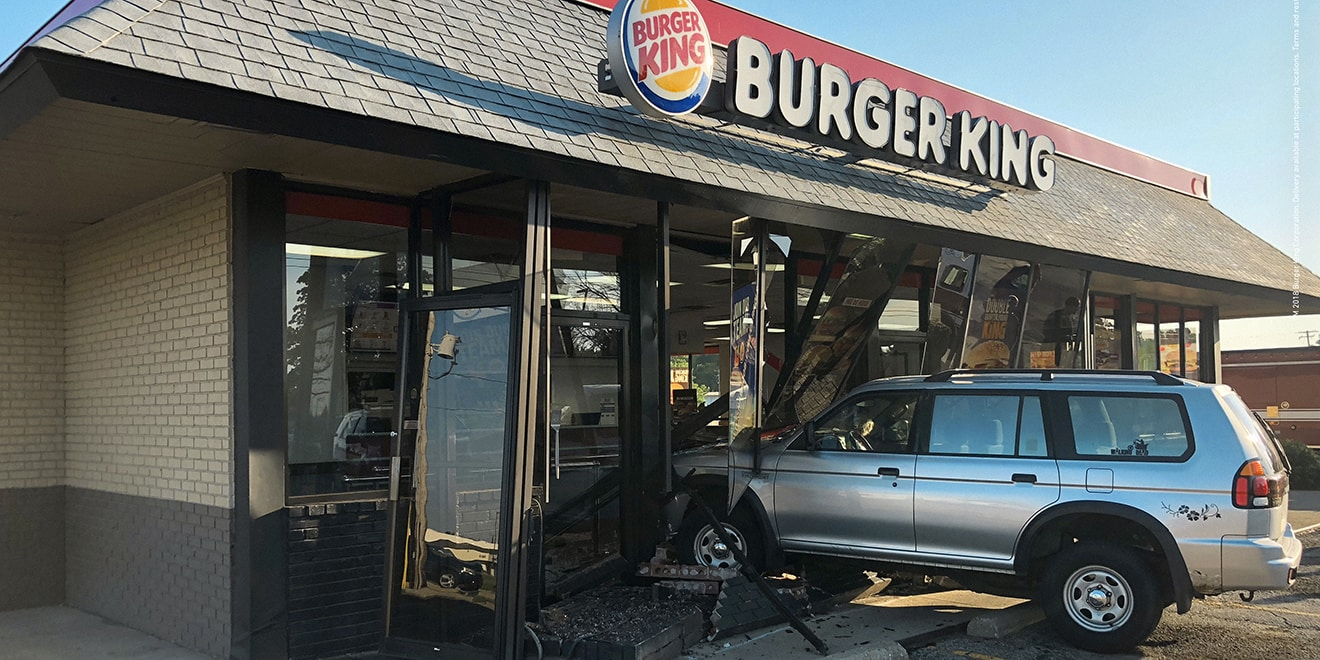 burger king turned real car crashes at its restaurants into ads