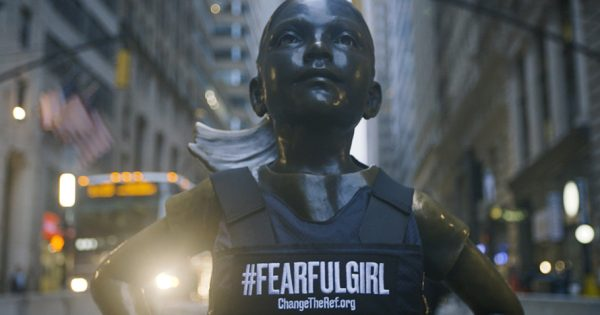 Fearless Girl Transformed Into #FearfulGirl as a Symbol for Gun Reform – Adweek