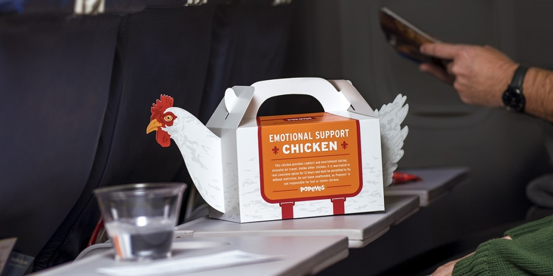 popeyes is offering  u2018emotional support chicken u2019 to help comfort holiday travelers  u2013 adweek