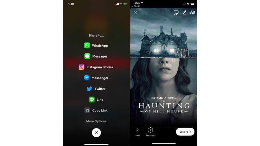 Netflix iPhone App Users Can Share What They're Watching Directly to Instagram Stories