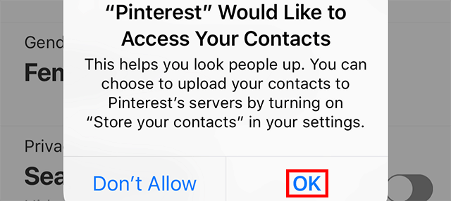 c15e50a164a Pinterest  Here s How to Store Your Contacts in the App – Adweek