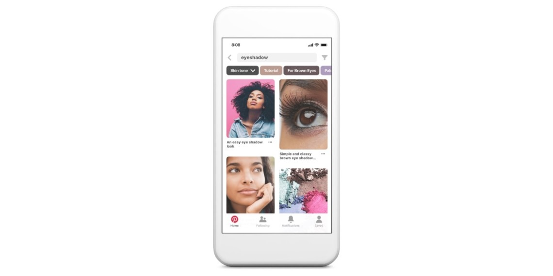 Pinterest Is Bringing Skin Tone Ranges to Its iOS App